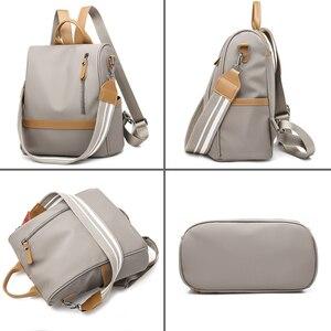 Image 5 - Anti theft Women Backpacks Waterproof Nylon Women Backpack Ladies Large Capacity Backpack High Quality Bagpack sac a dos