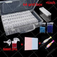 64 сетки 5d diy алмазная живопись инструменты дрель коробка