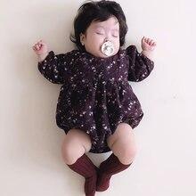 Milancel 2020 roupas das meninas do bebê floral infantil meninas bodysuit da criança do vintage meninas outerwear puff manga roupas bebê