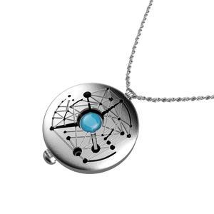Xcoser Skywalker компас ожерелье цинковый сплав Подвески Звездные войны брелки косплей костюм реквизит Серебряный Хэллоуин