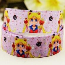 22mm 25mm 38mm 75mm Sailor Moon Cartoon printed Grosgrain Ribbon party decoration 10 Yards X-03025