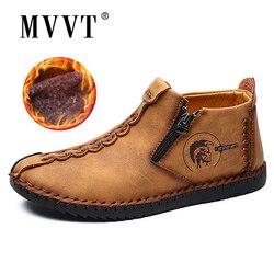 Clássico Homens Sapatos Casuais Confortáveis Men Super Quentes Sapatos de Neve Qualidade Split Couro Sapatos Mocassins Homens Mocassins Plus Size