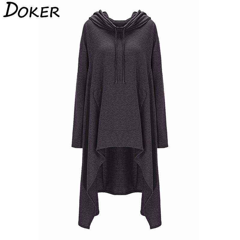 Autumn Winter Long Hoodies Sweatshirts Women Plus Size Loose Long Sleeve Hooded Sweatshirt Female Casual Pullover Hoodie 5