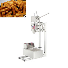 Commercial Heavy Duty 3L Vertical Manual Spanish Churro Maker Machine w/ 6L Electric Fryer CE стоимость