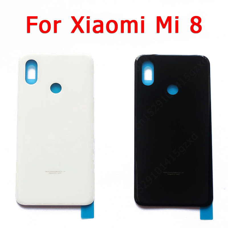 Original Back <font><b>Battery</b></font> <font><b>Cover</b></font> for <font><b>Xiaomi</b></font> <font><b>Mi</b></font> <font><b>8</b></font> mi8 back housing <font><b>cover</b></font> case with Adhensive replacement spare parts image
