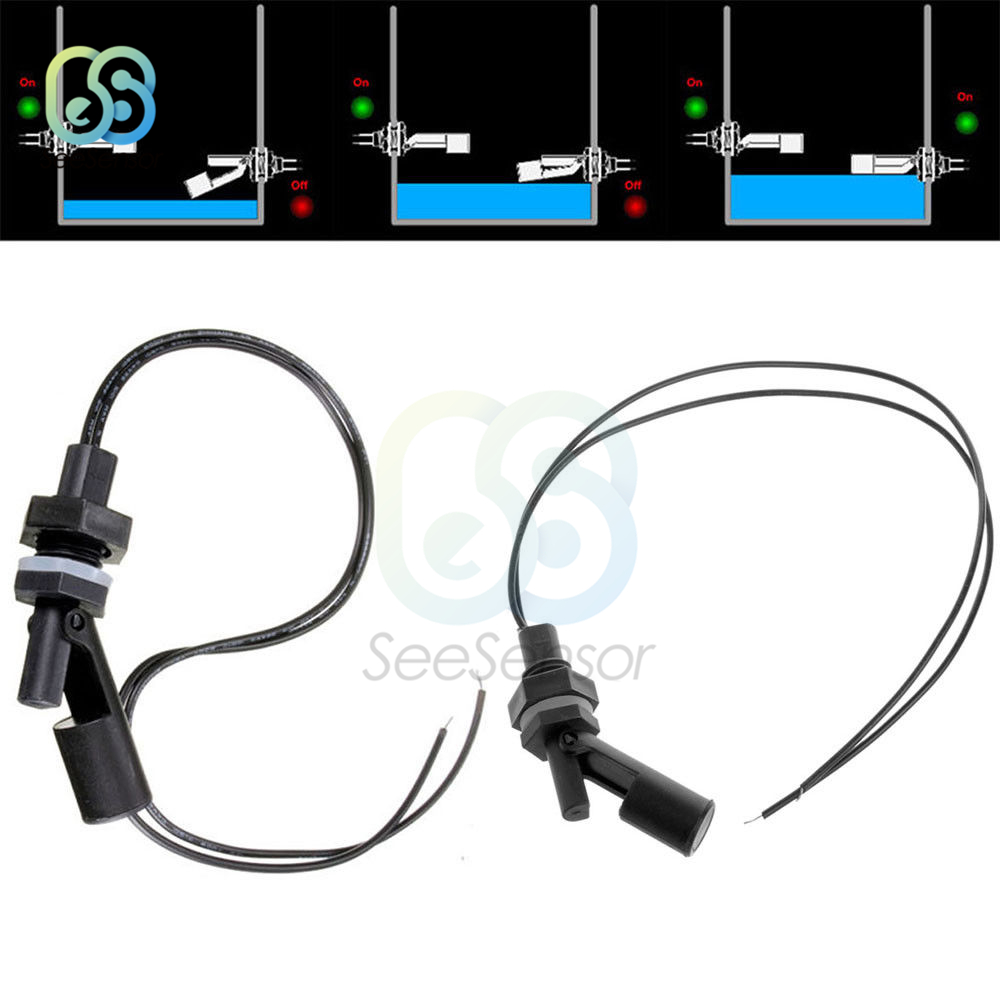 Horizontal Float Sensor Switch Side Mount Liquid Water Level Sensor Controller Automatic Water Pump Controller For Tank Pool