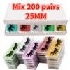 Mix 200 Pairs 25MM