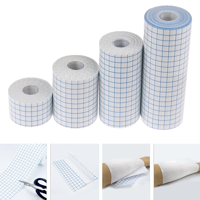 1Roll 3 Size Waterproof Adhesive Wound Dressing Medical Fixation Tape Bandage