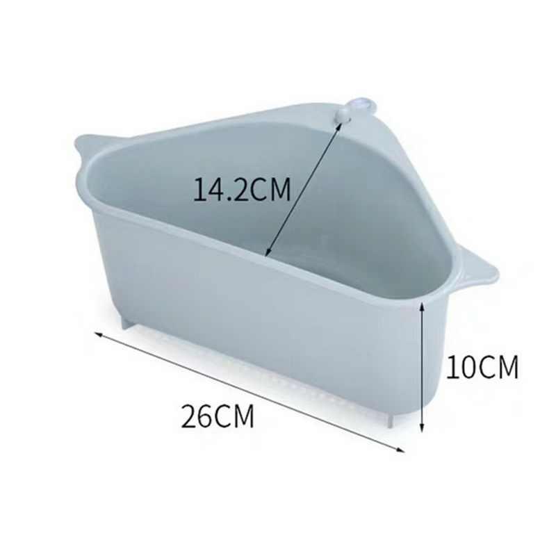 Cozinha triangular pia filtro dreno vegetal fruite escorredor cesta ventosa esponja armazenamento rack pia filtro prateleira titular