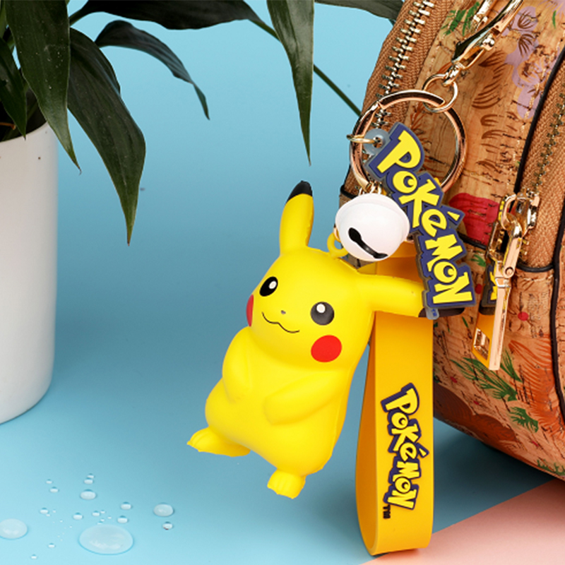 Original Pokemon Pikachu Figures Fashion Cartoon Keychain Pendant Pokémon Anime Decorations Model Toys Dolls Child Birthday Gift 2