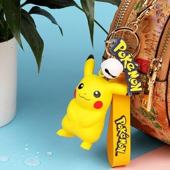 Original Pokemon Pikachu Figures Fashion Cartoon Keychain Pendant Pokémon Anime Decorations Model Toys Dolls Child Birthday Gift 2