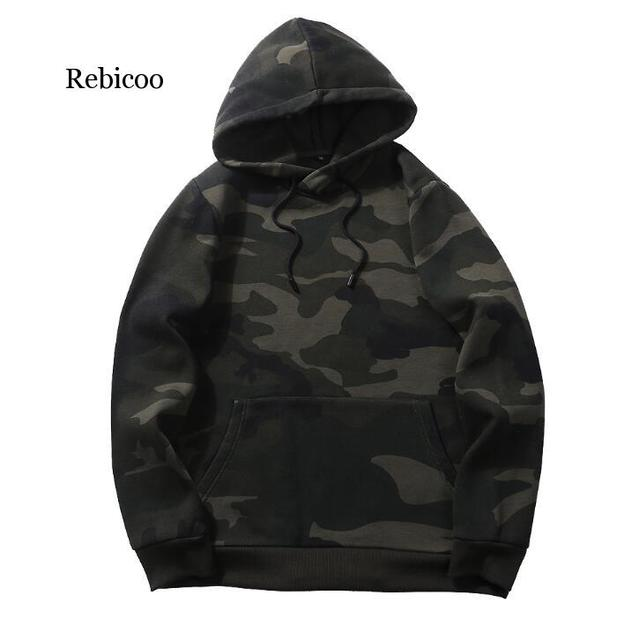 Plus Size Hoodies Camouflage Sweatshirt Men Hip Hop Cotton Tracksuit Sweat Hoodies Male Camo Hoody Military Hoodie US/EUR Size