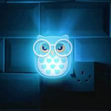 Светодиодная настенная лампа в виде совы для детей светильник