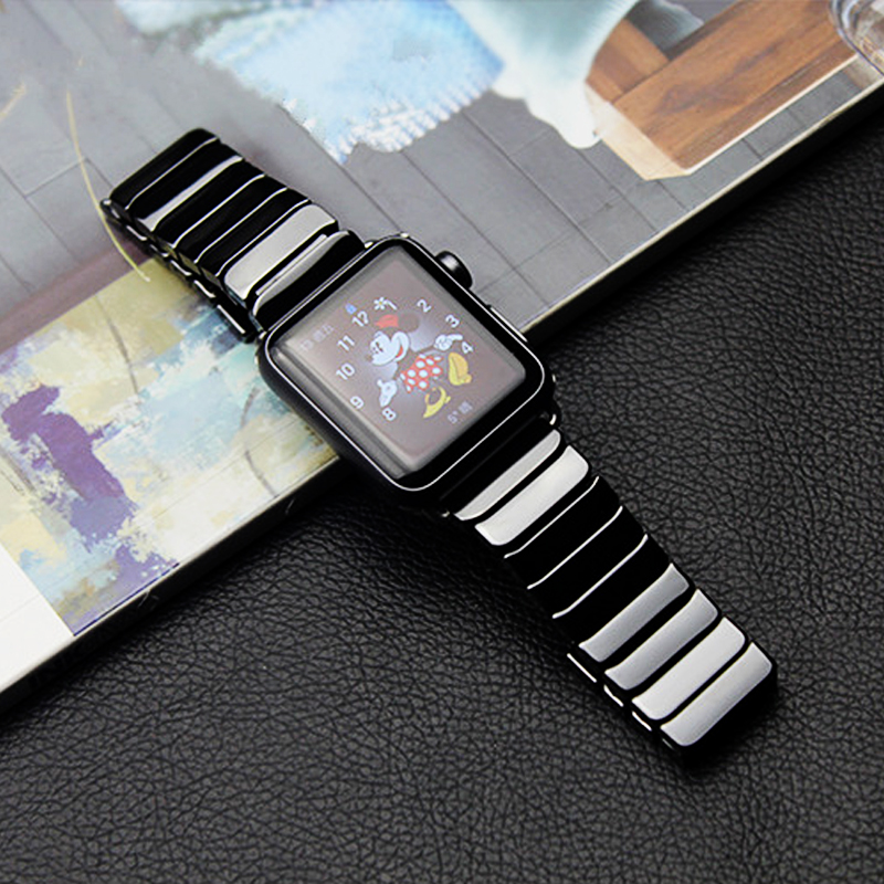 Ceramics strap for apple watch 5 4 band 44mm 40mm apple watch band 42mm 38mm iwatch 5/4/3/2/1 belt Butterfly Buckle bracelet | Watchbands
