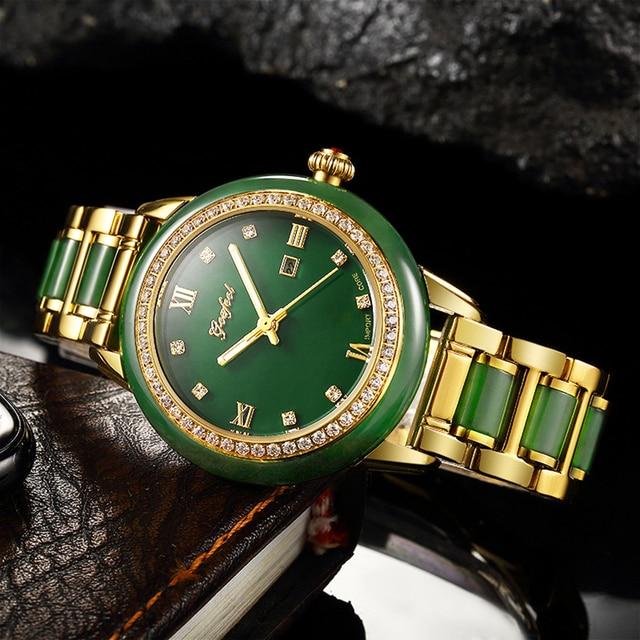 2020 חדש גבירותיי ירקן צמיד שעון מכאני באופן מלא אוטומטי שעונים עם לוח שנה תצוגת פונקצית תעודת הערכה