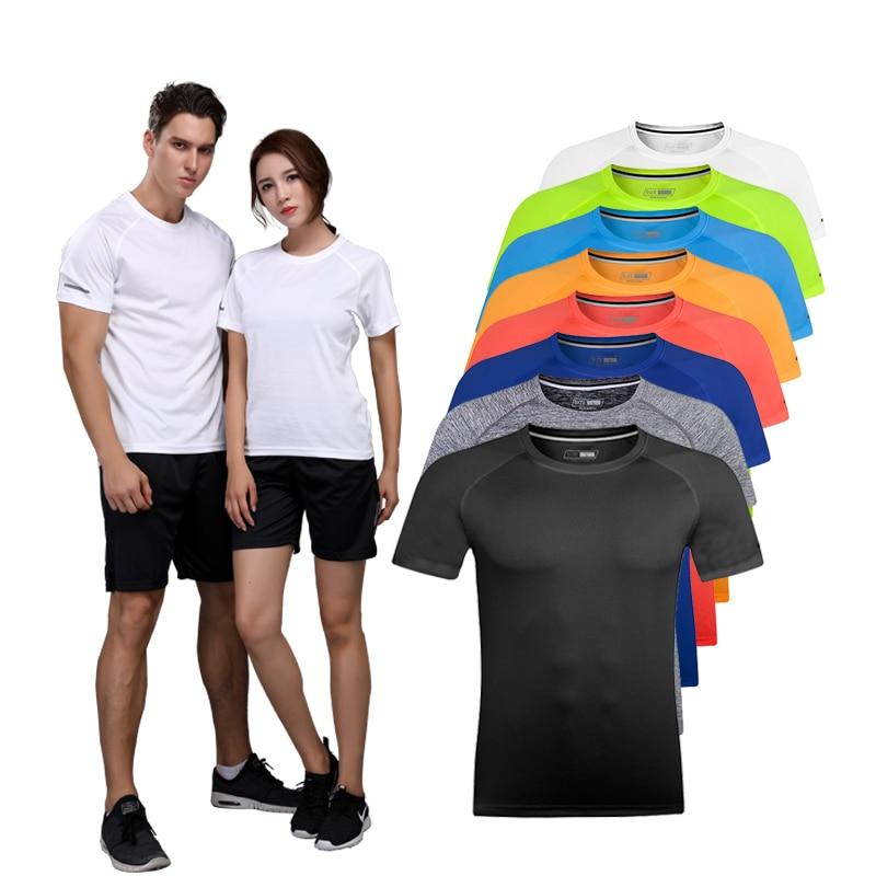 New brand Clothing fitness Running t shirt men O-neck t-shirt resilience bodybuilding Sport shirts tops gym men t shirt