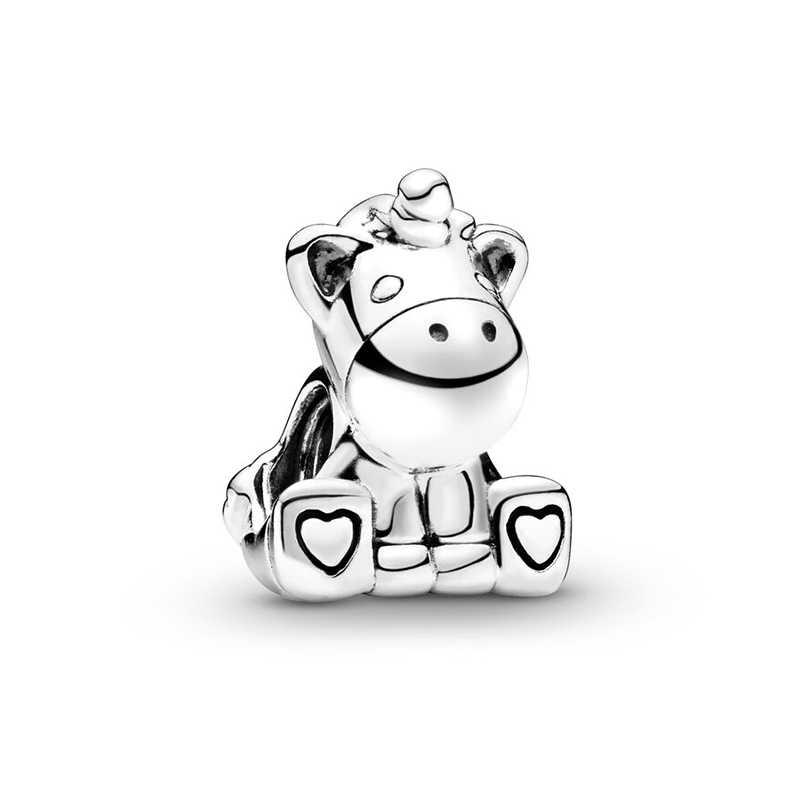 2 ピース/ロット動物シリーズ unicor ビーズチャームペンダントフィットパンドラオリジナルチャームブレスレット女性の diy のジュエリーメイキングアクセサリー