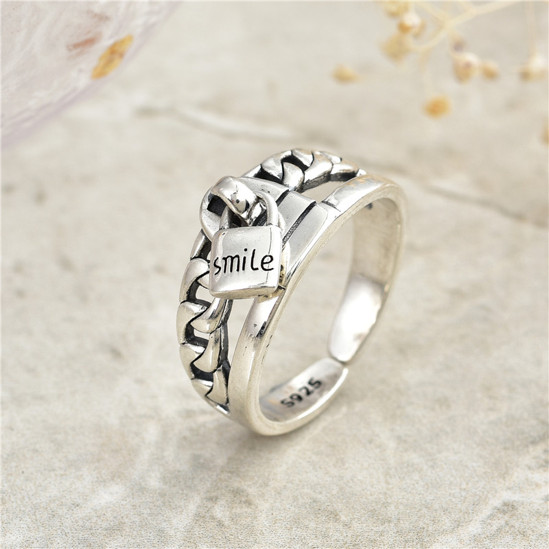 2019 Hot New Style 925 Sterling Silver Ring Expression Female Party Original Beautiful Jewelry Gift Fashion Jewelry