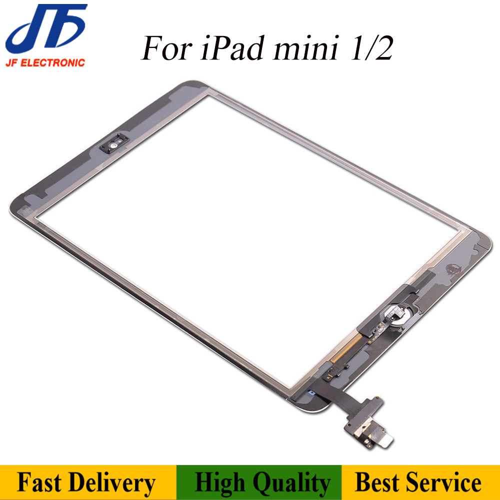 Image 2 - 10pcs/lot  Free shipping For iPad mini 1 2 3 Touch Screen  Digitizer Assembly with home button AssemblyTablet LCDs