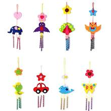 Kids Child DIY Wind Chimes Aeolian Bells Educational Puzzle Toys Craft Kits Handmade felt Animals plush toys for children gifts(China)