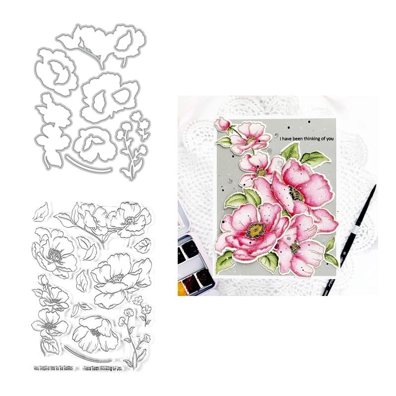 Lovely Bloosom Flowers Cutting Dies Scrapbooking Photo Decor Embossing Making Pr