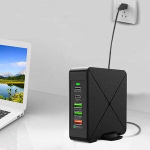 Image 3 - 75W PD tipi C 3 USB QC3.0 hızlı akıllı şarj cihazı 100 240V 45W endüktif şarj dizüstü güç adaptörü iPhone Huawei Samsung için