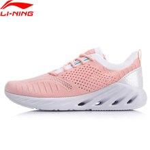Li-ning mulher LN-ARC almofada tênis de corrida forro de fios mono li ning respirável sapatos de desporto meias arhp048
