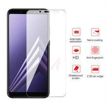 3 Full Cover Có Kính Cường Lực Dành Cho Samsung Galaxy Samsung Galaxy A5 A8 A7 Kính Cường Lực Cho Samsung A6 A9 J4 J6 plus 2018 Tấm Bảo Vệ Màn Hình