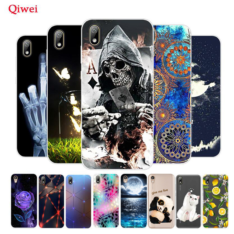 For Huawei Y5 2019 Case Painted Silicone Soft TPU Cover For Huawei Y5 2019 Y5 2018 Y7 Y6 Y 5 2019 Y52019 AMN-LX1 Phone Case Capa