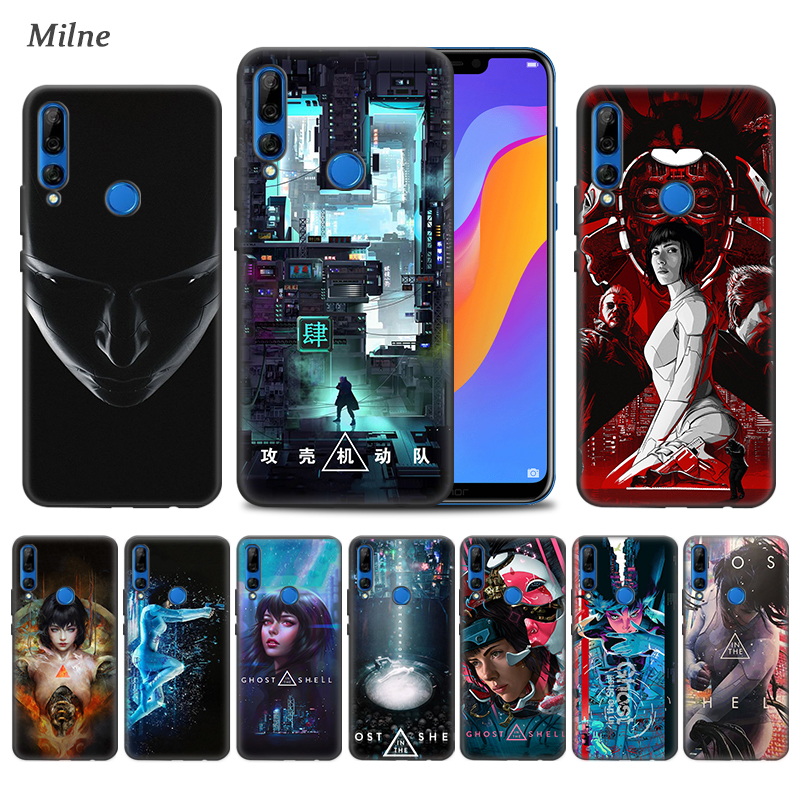 <font><b>Ghost</b></font> <font><b>in</b></font> <font><b>the</b></font> <font><b>Shell</b></font> <font><b>Case</b></font> for Huawei Y9s Honor 9X Pro Play 3 3e 10 20 20s 10i 8X 8C Y9 Y7 Y6 2019 Black TPU Phone Coque Covers image