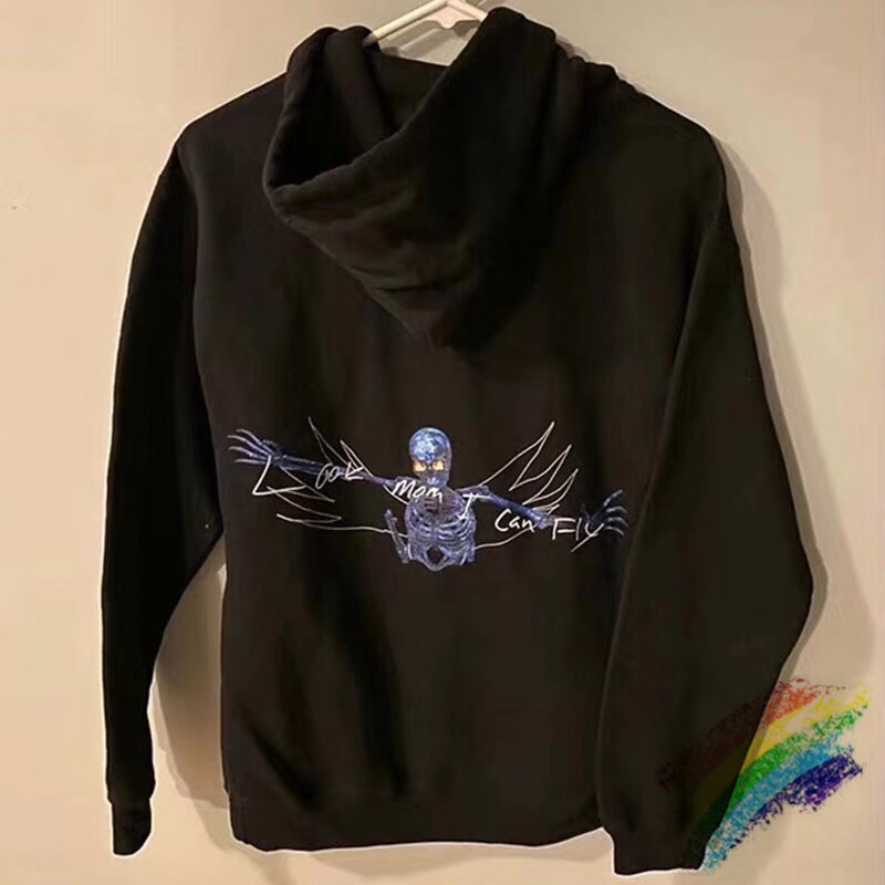 2020 Travis Scott Look Mom I Can Fly Skeleton Hoodie Women Men Best Quality Hip-hop ASTROWORLD Pullover