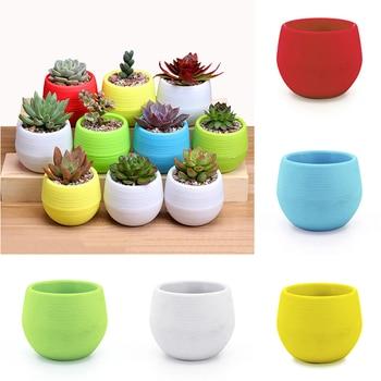 Candy Color Round Flower/Plant Decorative Pot