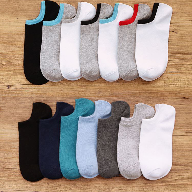 PLOFR-Mset Colorful Ankle Men Socks Spring Cotton Soild Short Socks