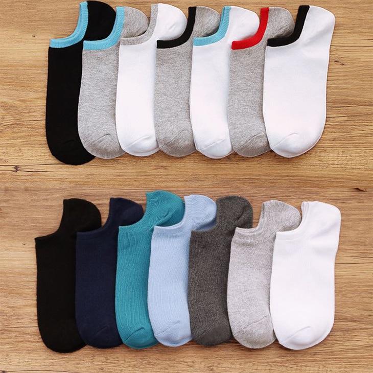 PLOFR-Mset Colorful Ankle Men Socks Spring Cotton Soild Short Socks