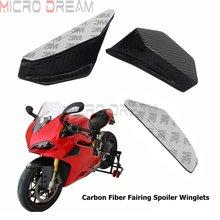 Dla Ducati Panigale 1199 1299 motocykl Winglet aerodynamiczny zestaw skrzydło z włókna węglowego Spoiler dla Honda Nmax Aerox 155 CBR skuter