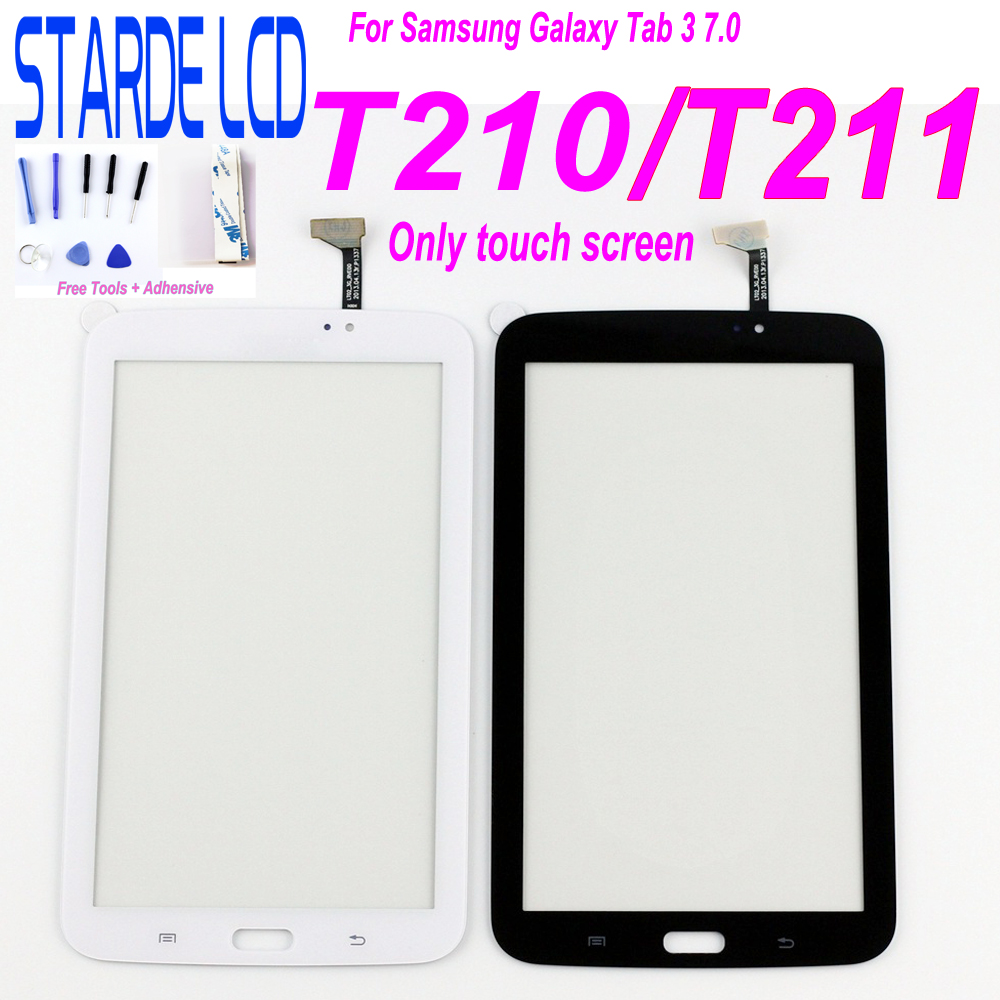 Tablet Touch Screen For <font><b>Samsung</b></font> Galaxy Tab 3 7.0 T210 <font><b>T211</b></font> SM-T210 SM-<font><b>T211</b></font> P3200 T217 Touchscreen Digitizer <font><b>LCD</b></font> Display Glass image
