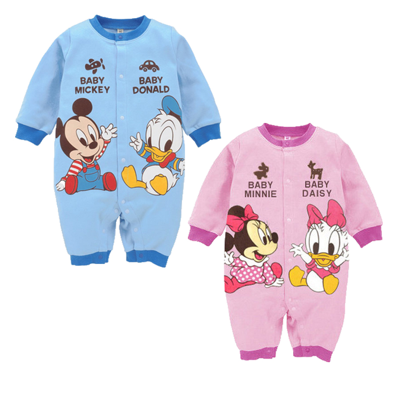 Disney Baby   Rompers   Spring Mickey Baby Clothes Minnie Baby Girls Clothing Cartoon Roupas Bebes Long Sleeve Infant Jumpsuit
