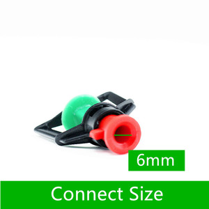 """Image 4 - 200pcs Greenhouse Gardening Rotary Atomization Sprinkler With 1/4"""" Barbed Irrigation Equipment Automatic Watering Microsprinkler"""