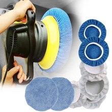 8Pcs 9 10 Inch Car Microfiber Polisher Bonnets Polishing Pads Wax Wash Buffer Waxing and Polishing Set Bonnet Polishing Buffer