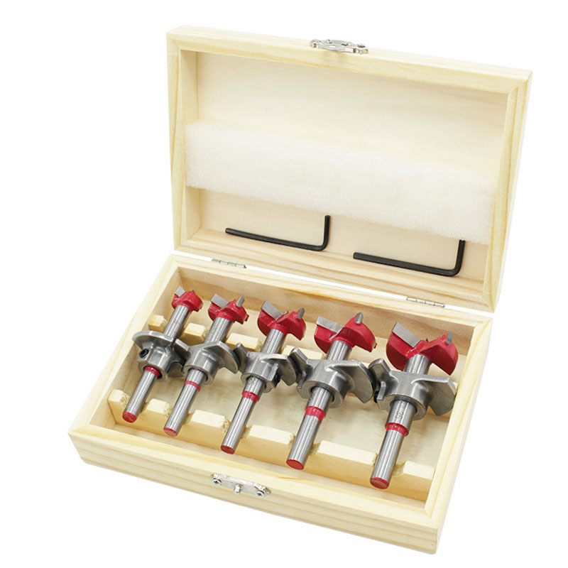 Positioning Woodworking Hole Saw Set Hard Alloy Forstner Drill Adjustable Hinge Reamer 15-35
