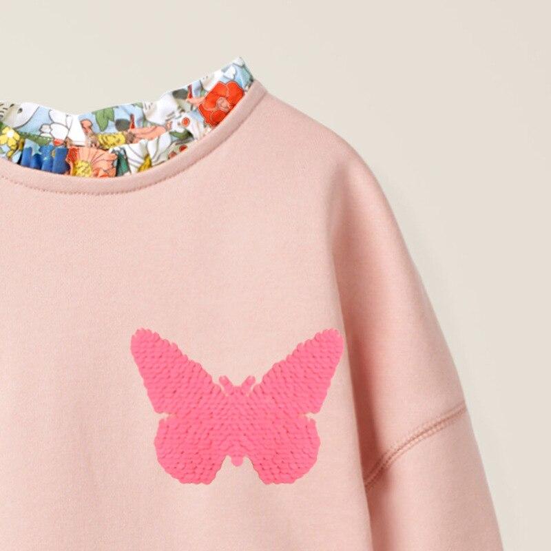 Little maven Girls long sleeve dress Butterfly Sequined Baby Girls Princess Costume for Christmas Kids Clothes Children Dress 2