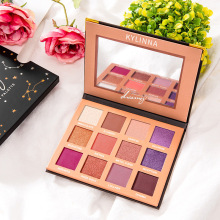 Givenone Eye Makeup Nudes Palette 12 Color Matte Eyeshadow Pallete glitter powder Eye Shadow Earth shadows glitter eyeshadow недорого