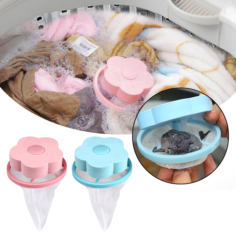 Floating Mesh Filter Bag Washing Machine Laundry Pouch Lint Hair Removal Devices