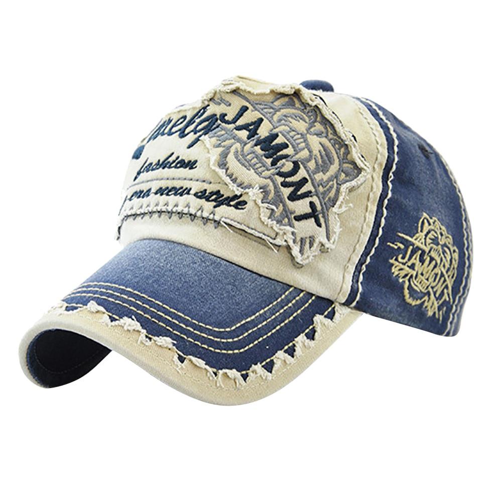 Women Embroidered Flower Denim Cap Fashion Baseball Cap Topee Casual Hats Summer Letter Mesh Caps Peak Caps Gorros#T2 4