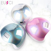 EUSCI SUN5 48W Dual UV LED Nail Lamp Nail Dryer Gel Polish Curing Light with Bottom 30s/60s Timer LCD display 54w nail dryer dual uv led nail lamp gel polish curing light with bottom 30s 60s timer lcd display lamp for nails nail dryer