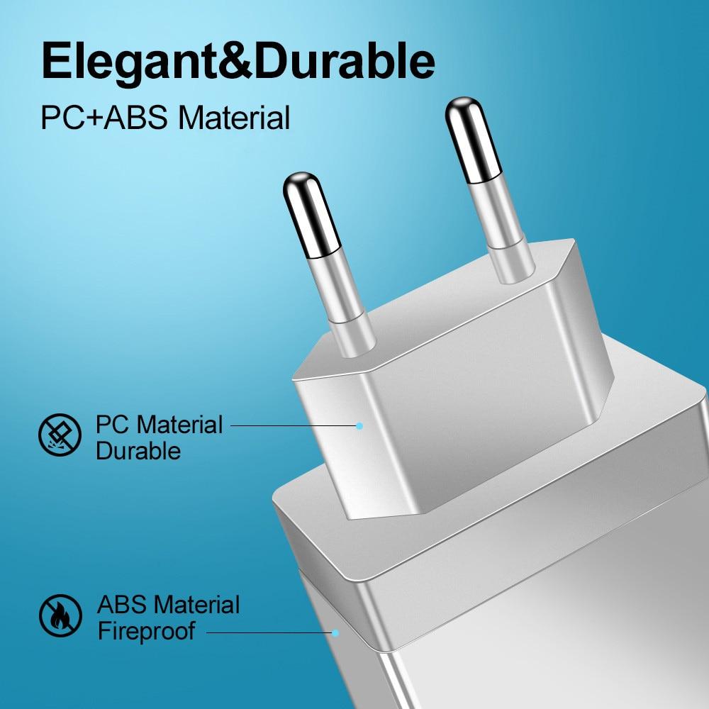 Carregador USB 3.0 EU/US, adaptador de tomada para celular Huawei Mate 30, tablet portátil, carga rápida turbo de parede 4