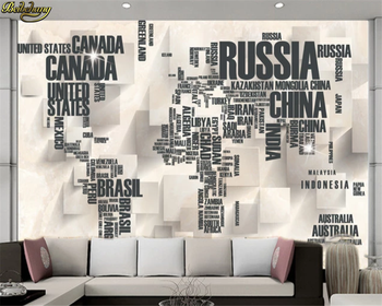 beibehang Custom 3d wallpaper 3D stereo English alphabet TV background wall painting papel de parede Home Decoration beibehang custom size abstract space corridor white sphere 3d stereo tv background wallpaper papel de parede 3d papier peint