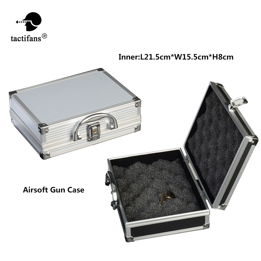 Aluminum Alloy Gun Case Locking Foam Paintball 1911 Glock Pistol Carrying Padded Cases Lining Airsoft Gun Hunting Accessories