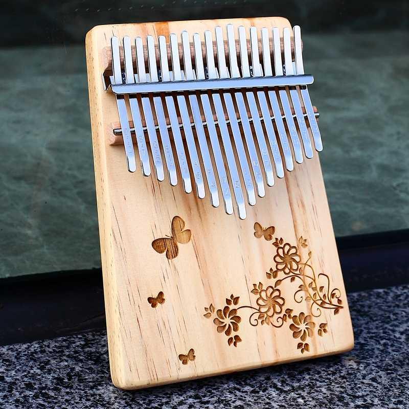 Portable Mahogany Wood Mbira Finger Piano Gifts for Kids and Adults Beginners Kalimba Thumb Piano 17 Keys Musical Instruments