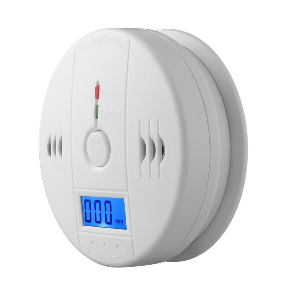 2019 Carbon Monoxide  Alarm Detector LCD CO Sensor Work Alone Built-in Siren Sound  Carbon Monoxide Poisoning Warning LED Screen